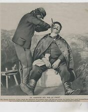 1914  --  COIFFEUR AU TRAVAIL SUR LE FRONT    3E674