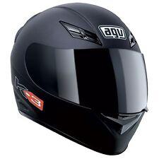AGV K3 Flat Black Solid L Large Motorcycle Helmet Road Track Matte