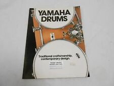 VINTAGE MUSICAL INSTRUMENT CATALOG #10047 - (1970s) YAMAHA DRUMS