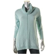 Two by Vince Camuto 6890 Womens Blue Cowl Neck Slub Pullover Sweater Top XS BHFO