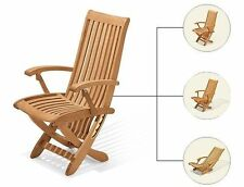 RECLINING DINING CHAIR A+ GRADE TEAK GARDEN OUTDOOR FURNITURE PATIO - WARWICK