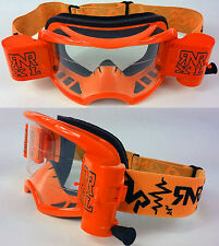 2015 RIP N ROLL RNR COLOSSUS MOTOCROSS MX XL ROLL OFF GOGGLES enduro NEON ORANGE