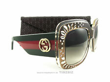 New Gucci Sunglasses GG 3862/S Brown Green Red YL5DB Authentic