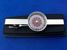 ROULETTE WHEEL GIFT IDEA TIE CLIP CASINO GAMBLING CLASP PIN NECKTIES TIES LOGO