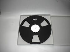 "New!  AKAI black 10.5"" inch Metal Reels for 1/4"" tape- Mint Condition"