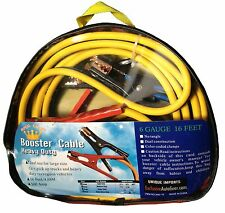 Premium Booster Cable 16 FT 500 AMP 6 Gauge Heavy Duty Battery Jumper EXTRA LONG
