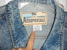 Autentic Aéropostale Denim Blue Jean Jacket Size XL Excellent Condition