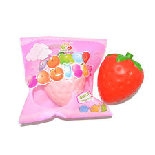 1PCS Jumbo Strawberry Squishy Slow Rising Pressure Relief Kawaii Soft Stress Toy