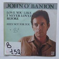 JOHN O ' BANION I love you like i never loved before 12528