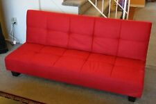 FUTON SOFA BED Sleeper Convertible Couch Folding Living Room Dorm Furniture Red