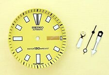 NEW SEIKO YELLOW DIAL HANDS MINUTE TRACK SET FOR SEIKO 6309 7290 WATCH NR-101