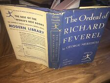 The Ordeal Of Richard Feverel By George Meredith Modern Library 1950