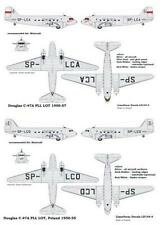 DOUGLAS C 47 A DAKOTA POLISH AIRLINES LOT 1/144 LOD RARE!