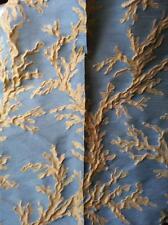 CESARI tessuto stoffa scampolo CORALLI CORALLO misto LINO design Costa Smeralda