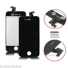 TOUCH SCREEN LCD DISPLAY RETINA + FRAME PER APPLE IPHONE 4 4G VETRO SCHERMO NERO