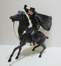 AS-IS MARX 1950's 60's ZORRO & TORNADO WESTERN HORSE & RIDER FIGURE SET DAMAGED