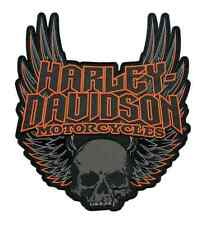 Harley-Davidson Gothic Winged Skull Embroidered Emblem, 3XL Size Patch EM108307