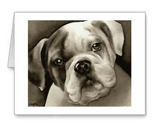BULLDOG PUPPY note cards by watercolor artist DJ Rogers