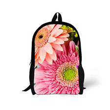 Flower Floral Women Bookbag Backpack School Bag Teenagers mochila escolar Men