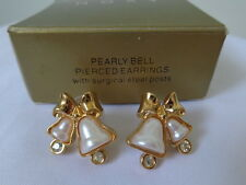 US AVON PEARLY BELLS Earrings Jewelry 1997 Collection