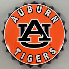 """College Auburn Tigers Au Bottle Top Metal Sign 19"""" Diameter Made In The Usa"""