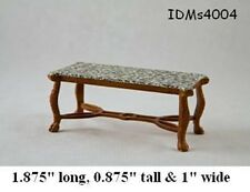 FAUX MARBLE COFFEE TABLE 1:24 SCALE DOLLHOUSE MINIATURES Heirloom Collection