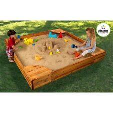 "KidKraft Backyard Sandbox 130 Sand Box 60"" x 60"" x 8.5"" NEW"