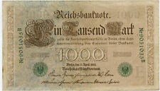 Germany 1910 1000 marks 1910 vf green