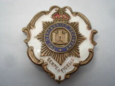 CWW1 VINTAGE THE DEVONSHIRE REGIMENT WHITE FACED ENAMEL SWEETHEARTS PIN BROOCH