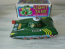Vintage Light Tank MF 721 Char Friction Tin Toy Model Mint In Box