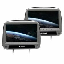 PAR REPOSACABEZAS MONITOR 9 XTRONS HDMI GRIS DVD USB SD MP3 DIVX DESMONTABLE