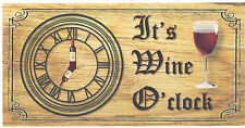 Wooden plaques handmade Shabby Chic signs gift Wine O'clock funny humour