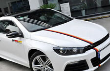 1 roll Car Sticker German Germany Flag Stripes Decal fits bumper For vdub vag