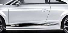 AUDI Premium Side Stripes Decals Stickers TT RS S3 S4 A3 A4 S-line S6 Quattro 02