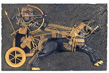 Assyrian War Chariot (9th century BC) Wall Relief Sculpture Replica Reproduction