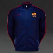 Nike N98 FC Barcelona FCB Authentic Track Jacket Soccer Blue Size S 689953-421