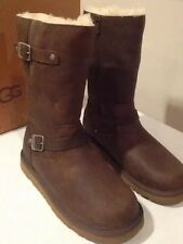 New Classic Ugg KIDS Kensington Leather Boot Toast Yth Sz 3 Fit Wms 5 Clerance❤️