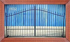 Ornamental Iron Driveway Entry Gate 12 Ft Wide Dual Swing, Fencing, Handrails.