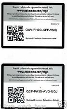 Celebi + MEW COLLECTION BOX CODE CARD +includes 4 GENERATIONS PACK Codes Pokemon