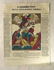 Gravure sur bois, L'assomption, XIXème, Pellerin Imagerie Épinal