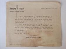 TRIESTE 1936 protezione antiaerea volantino