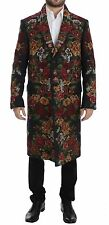 NWT $12000 DOLCE & GABBANA Gray Baroque Brocade Floral Coat Jacket EU48 /US38 /M