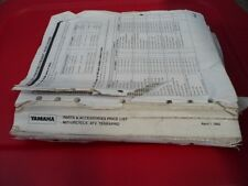 Yamaha Parts and Accessories Price List 1992 Motorcycle ATV Terrapro April