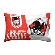 St George Illawarra Dragons NRL Pillow Case Pillowcase Birthday Gift *NEW 2017*