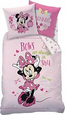 LINON KINDER BETTWÄSCHE 135/200 + 80/80 MINNIE MOUSE BOWS STYLE ~NEU MICKEY MAUS