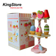 Mother Garden Strawberry Ice Cream Cake Pretend Role Play Kitchen Wooden Kid Toy