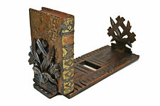Antique Black Forest Expandable / Telescoping Book Shelf, Geneve, Switzerland.