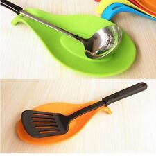 Silicone Spoon Insulation Mat Heat Resistant Placemat Tray Spoon Pad For Kitchen