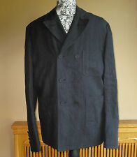 $1595 BURBERRY PRORSUM Navy Double Breast Linen Sport Jacket/Blazer US 36 EU 46
