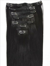 "7pcs 16"" 18"" 20"" 22"" Clip In Remy 100% Human Hair Extensions Full Head USPS"